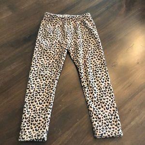 Fleece-lined cheetah leggings